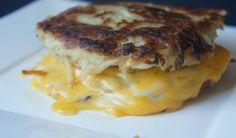 How to Make Grilled Cheese Latkes - Recipes - Kosher Recipes, Vegan Recipes, Empanadas, Hanukkah Food, Hanukkah Recipes, Hannukah, Making Grilled Cheese, Lunches, Healthy Recipes