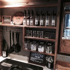 Kitchen Cupboard Doors, Kitchen Shelves, Diy Kitchen, Kitchen Interior, Kitchen Storage, Kitchen Design, Cafe Interior, Japanese Kitchen, Diy School Supplies