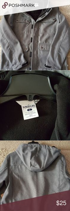 NWT Magellen Winter Coat with hood Brand new winter coat. Polyestet outside with a fleece inside. Several pockets and a hood that does not come off. magellen outdoors Jackets & Coats