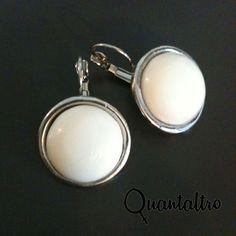 orecchini Vintage tondo White