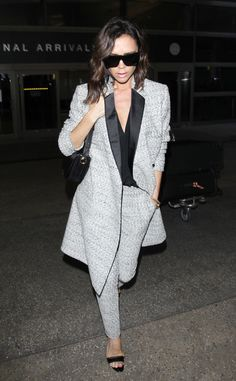 Victoria Beckham from The Big Picture: Today's Hot Pics  Sexy shades of grey! The former Spice Girls member is looking posh in a sophisticated ensemble.