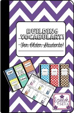 Speech Time Fun: Building Vocabulary for Older Students! 3 activities in one!