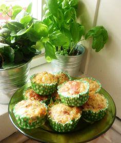Muffins de presunto e mozzarella