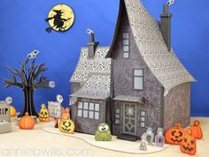 Halloween Haunted House by Annie Williams #svgattic #svg