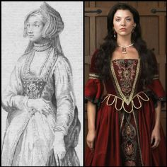 I don't remember this dress in The Tudors...much too conservative for their rendition of that time period.  Must have been for the casting call!