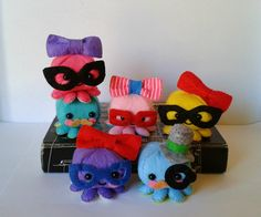 Mini Octopuses Plush Toy Pattern by BornToBeFelt on Etsy
