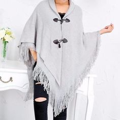 Loose Long Shawl Cardigan with Button ~ 5 Colors to Choose From!!