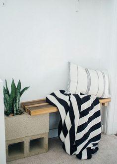 DIY banco de blocos de concreto e madeira (1)