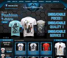 Fusion Clothing UK, Have a look eStore Seller's latest eBay Store Design Portfolio Ebay Store Design, Shirt Shop, Portfolio Design, Sale Items, New Fashion, Shop Now, Clothing, Outfit, Clothes