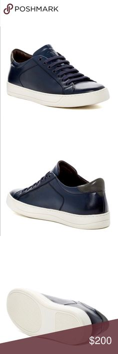 Bruno Magli Black Leather Sneakers MEN's Bruno Magli, Black Westy Sneaker, size 13.   Details Sizing: True to size.   - Round toe - Leather construction  - Lace-up vamp closure - Padded footbed - Grip sole - Made in Italy Materials Leather upper, rubber sole Bruno Magli Shoes Sneakers