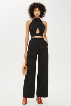 57f77802a76d55 Want list ·   Pinstripe Caroline Palazzo Pants by Love - Brands- Topshop