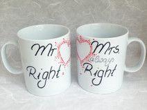 Schöne Hochzeit Tassen Mr Right & Mr always Right