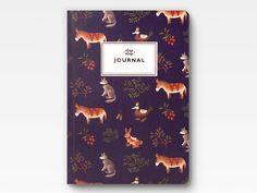 Bauernhof Tiere Journal - lila-    Notebook  Größe: 126 × 180 × 10 mm / 5 × 7 × 0,3 Zoll Seite: 160 Pg  Umschlag: 350g Matt Papier mit