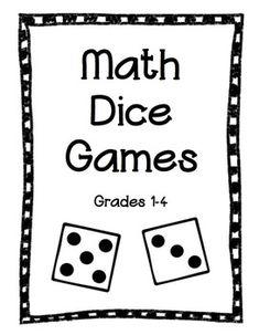 Math Dice Games-- Grades 1-4 $4.00