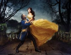 """A few Hollywood stars got a Disney makeover by famous photographer Annie Leibovitz. Penelope Cruz was transformed into Belle from """"Beauty and the Beast,"""" with Jeff Bridges as her prince. This portrait is the latest to be commissioned by Disney, the parent company of ABC News, which debuted the series of celebrities set in Disney fantasy settings in 2007."""