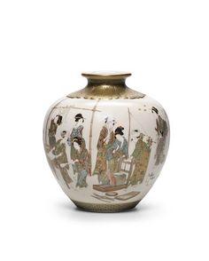 A Satsuma vase By Kinkozan, Taisho era (1912-1926)
