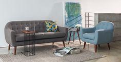Oasis Smoke Gray Sofa - Sofas - Article | Modern, Mid-Century and Scandinavian Furniture
