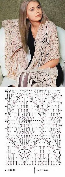 Fabulous Crochet a Little Black Crochet Dress Ideas. Georgeous Crochet a Little Black Crochet Dress Ideas. Crochet Shawl Diagram, Crochet Poncho Patterns, Crochet Shawls And Wraps, Shawl Patterns, Crochet Chart, Crochet Scarves, Crochet Motif, Crochet Clothes, Crochet Lace