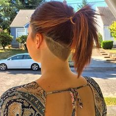 """Here's what it would look like in a ponytail """"26 Undercuts That Will Make You Want To Get Your Clippers Out"""""""