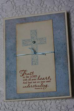 Handmade Sympathy / Encouragement Greeting Card  by wkburden