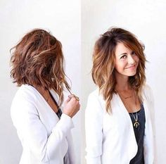 Wavy Hair Long Inverted Bob