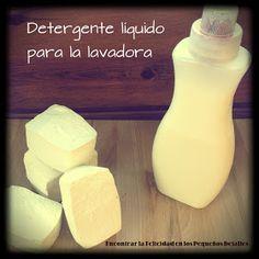 ENCONTRAR LA FELICIDAD EN LOS PEQUEÑOS DETALLES: Detergente para la lavadora {jabón de mi abuela}