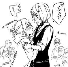 "Ha Ymir in the background is like "" I ship them """