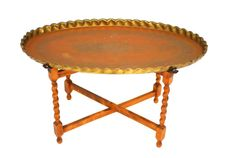 Oval Moroccan Brass Tray Table by ErinLaneEstate on Etsy