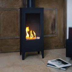 Ortal |  Ortal Standalone Small Square Gas Fireplace