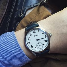 Stowa Marine on a Navy Horween Model 2