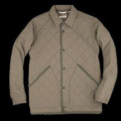 The Hill-side - Quilted Water Resistant Brushed Nylon Ueno Jacket in Sage JK13-398