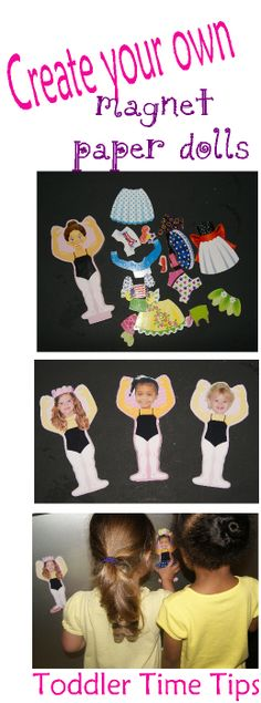 Toddler Time Tips Make your own magnet dolls!! Tons of creative projects and ideas @ https://www.facebook.com/toddlertimetips