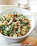 Roasted Onion Risotto with Arugula and Chevre