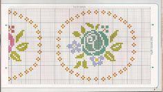 Bordado passo a passo: Ponto cruz grafico de Flores