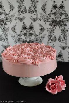 Marian pieni leipomo Cute Cakes, Yummy Cakes, Food N, Making Ideas, Panna Cotta, Birthday Cake, Baking, Sweet, Ethnic Recipes