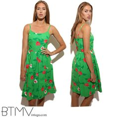 60s LEI LOW hawaiian flowers bright kelly green by BTMVintage, $128.00