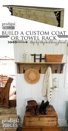 Build a Custom Coat or Towel Rack with these DIY Building Plans by Prodigal Pieces   www.prodigalpieces.com