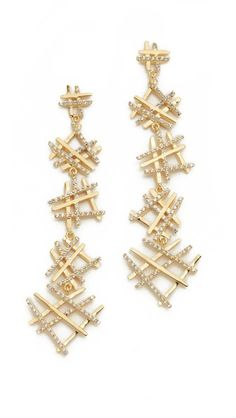 Joanna Laura Constantine Hashtag Drop Earrings