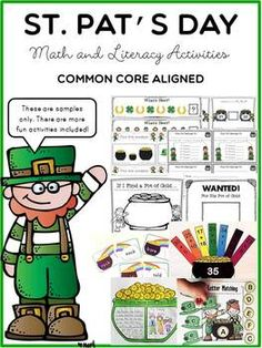 St. Patrick's Day: Math and Literacy - Let your lucky little learners catch the fun through this engaging bundle.