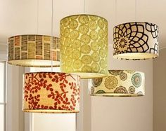 Freebie: Light Up A Room (& Board patterned lamp shadespatterned lamp shades Lampshades, Decor, Home Diy, Room Lights, Lamp, Home Crafts, Diy Decor, Lamp Shades, Home Decor