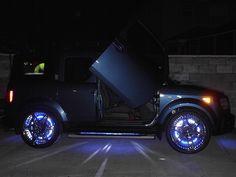 Honda Element with LCD wheels and Lambo doors. Hilarious