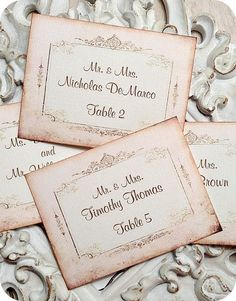 Personalized Pale Pink / Blush Wedding Escort Cards / Tags - Set of 25 - Tags, Favors, Showers, Cupcake Toppers by LittlePaperFarmhouse on Etsy https://www.etsy.com/listing/198314847/personalized-pale-pink-blush-wedding