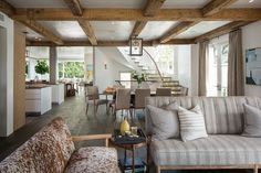 futon-covers-Living-Room-Transitional-with-beige-curtains-belgian-country-bulthaup-clean-curved-staircase-exposed-beams-French-country.jpg (990×660)