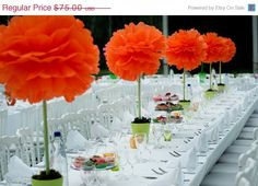 SPRING SALE 25 tissue paper pom pomspick your by SimplyNesting, $60.00