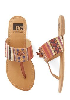 In the Late Night Lights Flat in Tapestry by BC Footwear