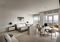 Un dormitor cu foarte multa lumina naturala. #decorinteriordormitor, #amenajariinterioarealbe