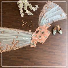 Get your hands on this beautiful pastel colour georgette saree with contrasting blouse. It has beautiful thread work on it.They SHIP WORLDWIDE For further assistance whatssapp on 14 February 2019