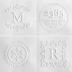 Embossed Address Labels  [Tinyprints]