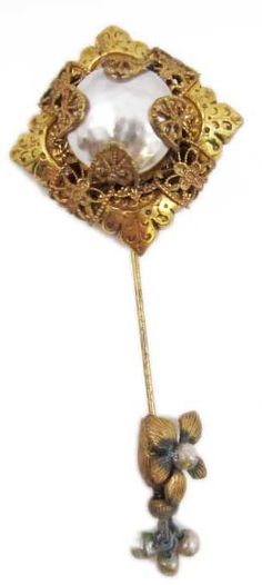 Vintage Miriam Haskell stick pin. #shopgoodwill