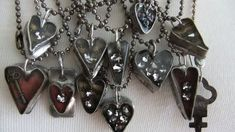 soldered hearts with resin